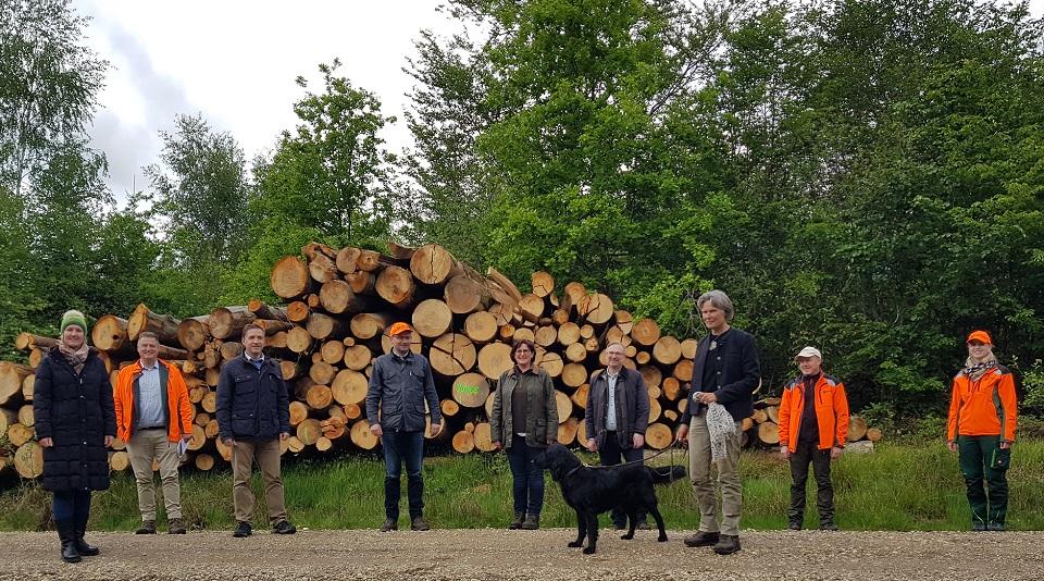 Der AK Forsten informiert sich in Niederbayern. Foto: CSU-Fraktion