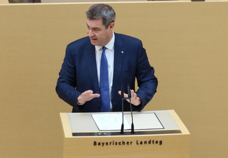 Dr. Markus Söder bei seiner Regierungserklärung. Foto: CSU-Fraktion