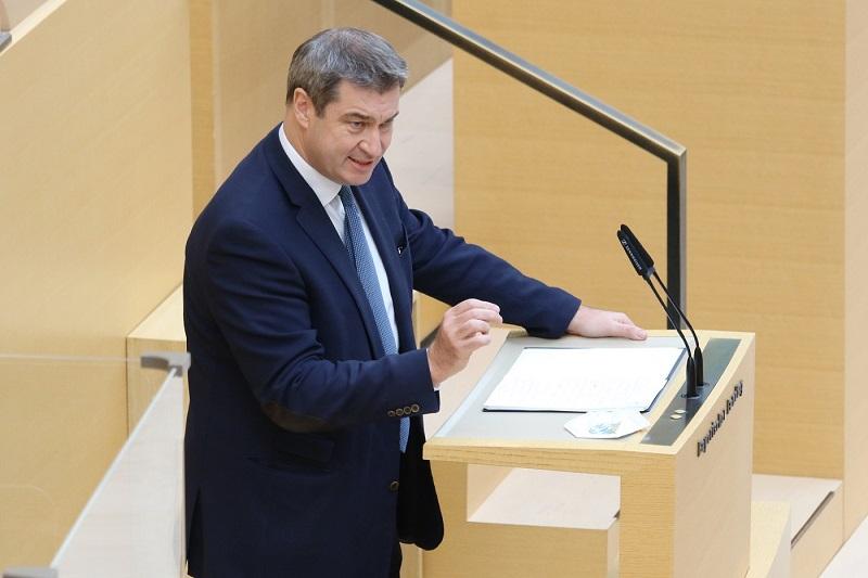Ministerpräsident Dr. Markus Söder bei seiner Regierungserklärung